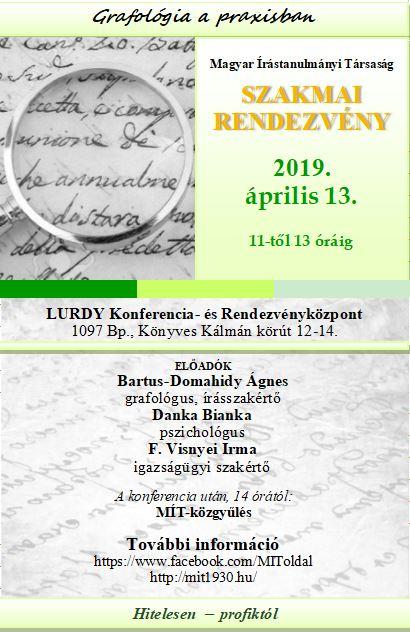MÍT tavaszi konferencia és<br /> tisztújító közgyűlés